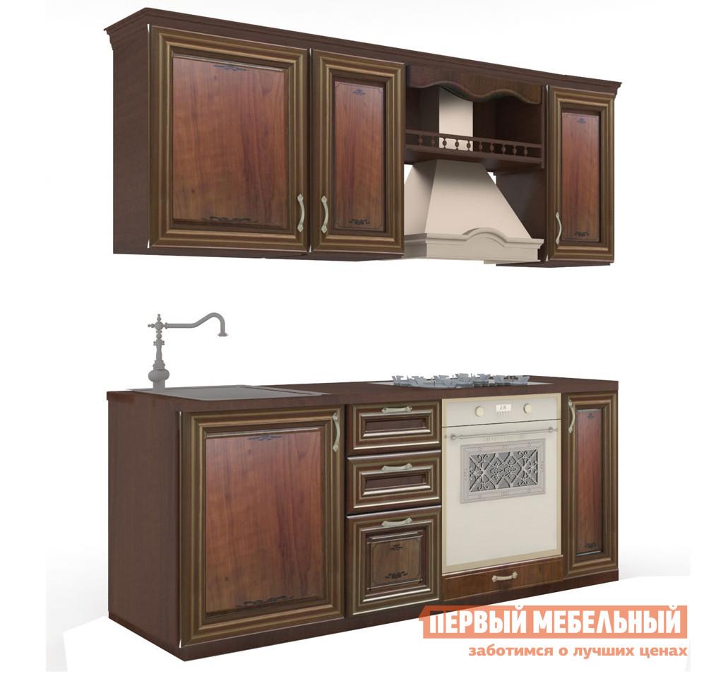 Фото Кухонный гарнитур Любимый дом Кантри 200 см Орех