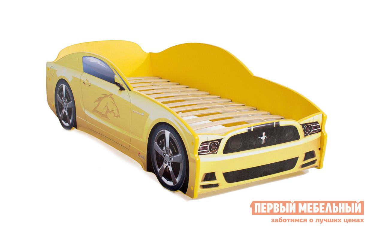 Фото Кровать-машина МебеЛев Мустанг Желтый, Без подсветки. Купить с доставкой