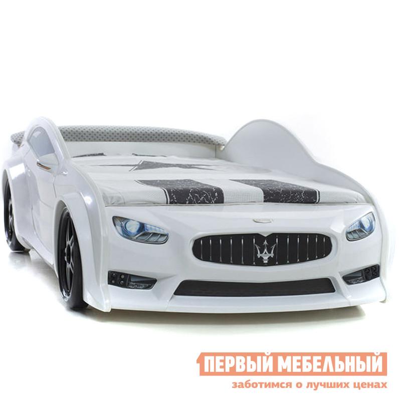 Детская пластиковая кровать-машина Bed-mobile Мазератти-EVO детская кровать машина 3d bed mobile мерседес