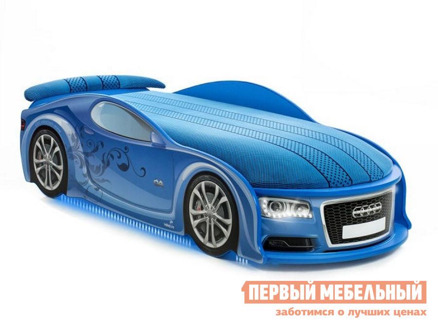 Кровать-машина  АудиА6 Синий, С подсветкой фар и дна