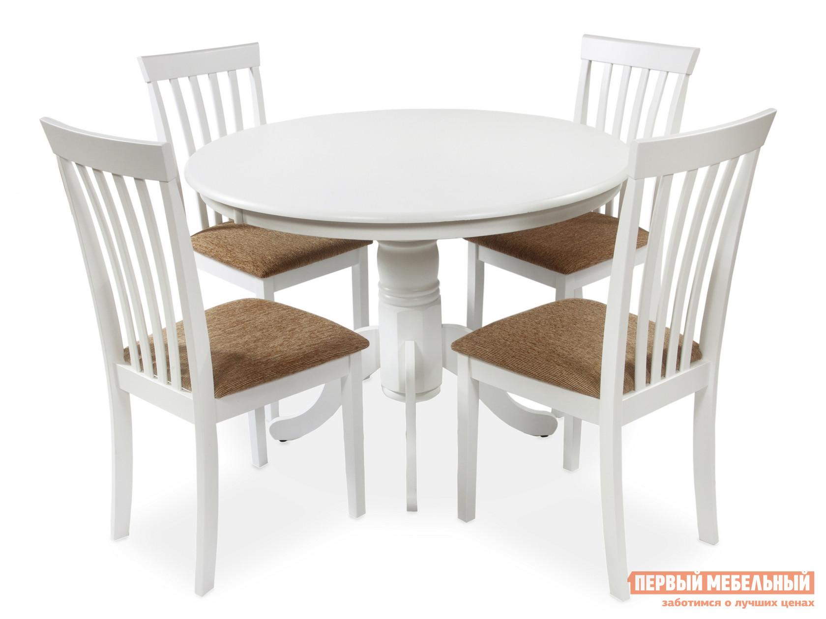 Обеденная группа для столовой и гостиной Mr. Kim Стол 2191 (wh) +стулья 2003 (wh) WHITE от Купистол