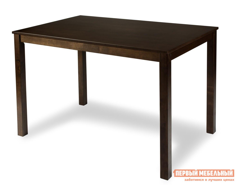 Обеденный стол Mr. Kim Стол обеденный ES 2 ESPRESSOОбеденные столы<br>Габаритные размеры ВхШхГ 750x1000x700 мм. Прост в исполнении и функционален в назначении – так можно описать данный обеденный стол.  Подойдет и для небольших помещений. Материал изготовления – массив гевеи, известный своей неподдельной прочностью при использовании.<br><br>Цвет: Коричневое дерево<br>Высота мм: 750<br>Ширина мм: 1000<br>Глубина мм: 700<br>Форма поставки: В разобранном виде<br>Срок гарантии: 1 год<br>Материал: Натуральное дерево<br>Порода дерева: Гевея<br>Форма: Прямоугольные<br>Размер: Маленькие