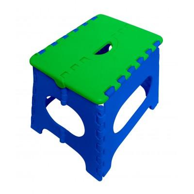 Пластиковый табурет Трикап Табурет складной средний Синий / Зеленый