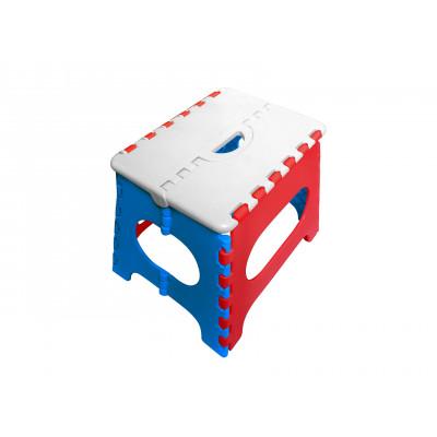 Пластиковый табурет Трикап Табурет складной средний Белый / Красный / Синий