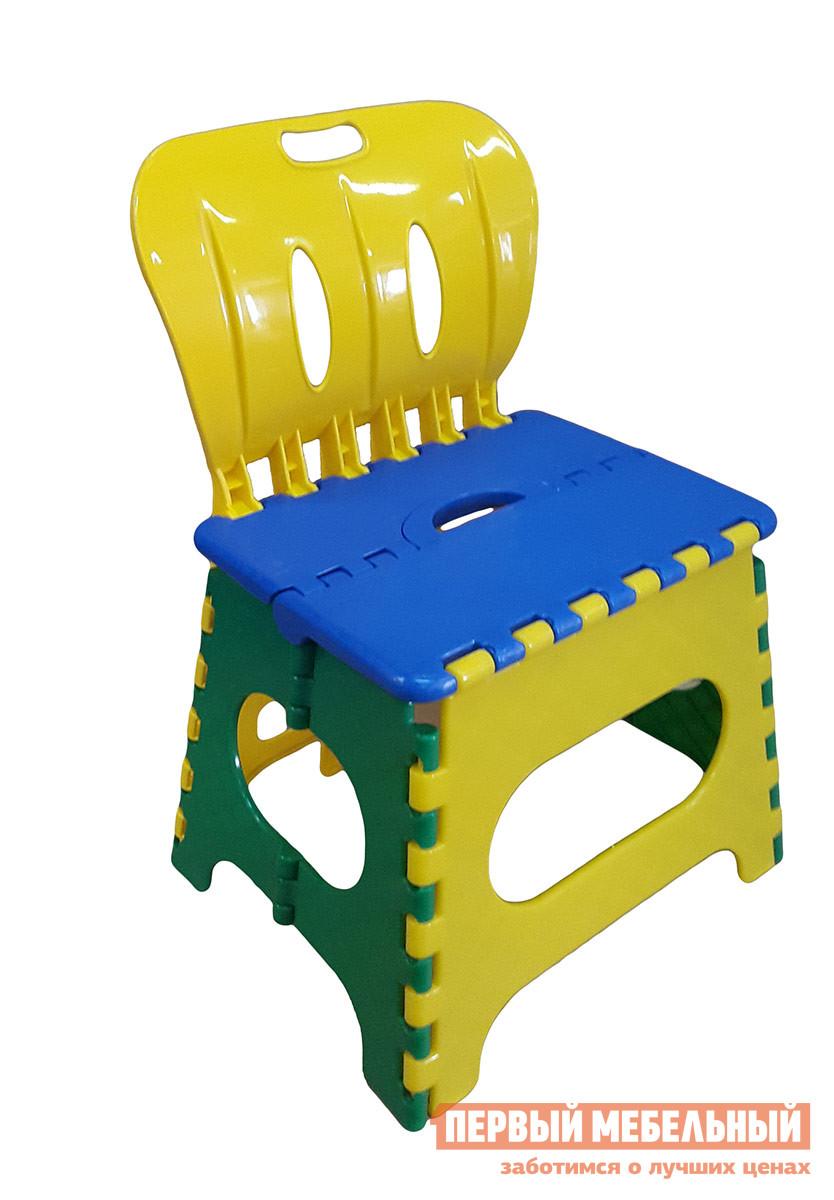 Пластиковый табурет Трикап Табурет средний со спинкой Синий / Желтый / Зеленый от Купистол