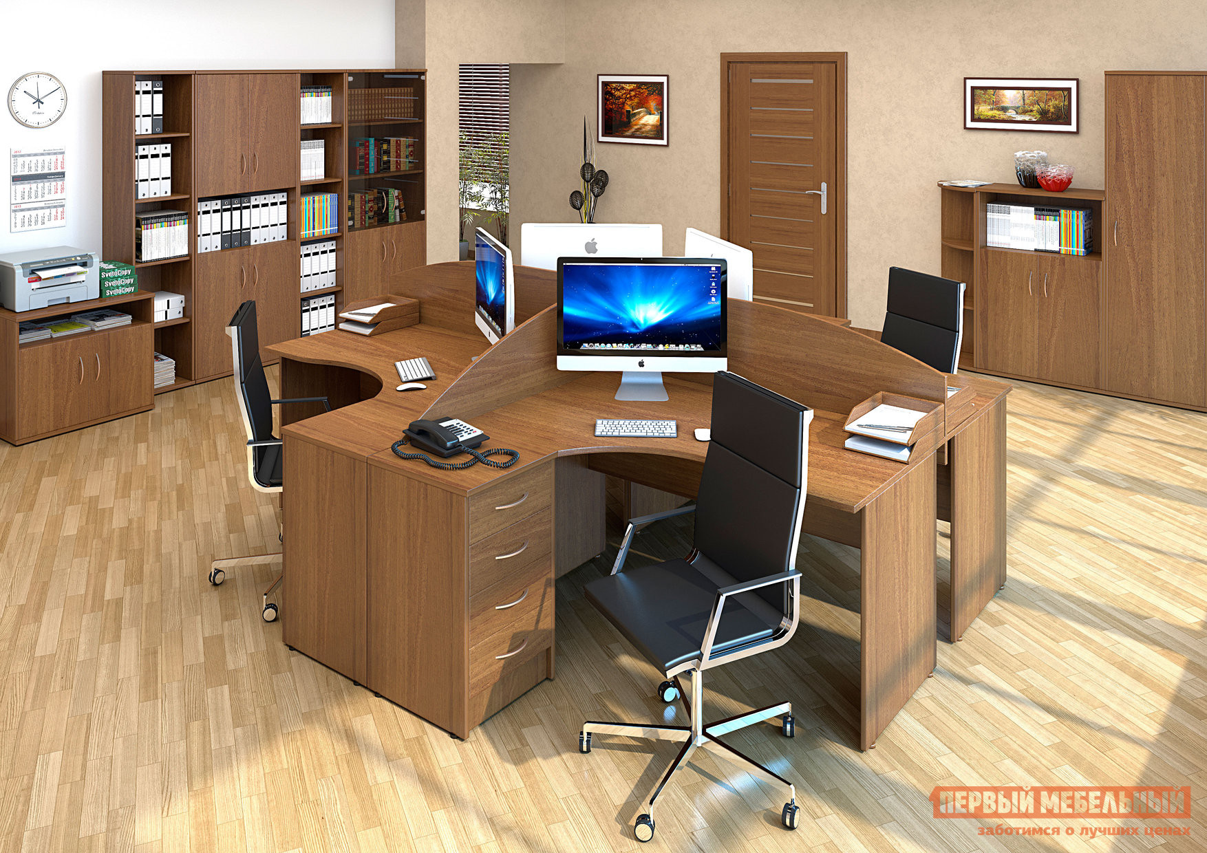 Комплект офисной мебели Riva Рива К3 комплект офисной мебели riva рива клен к1
