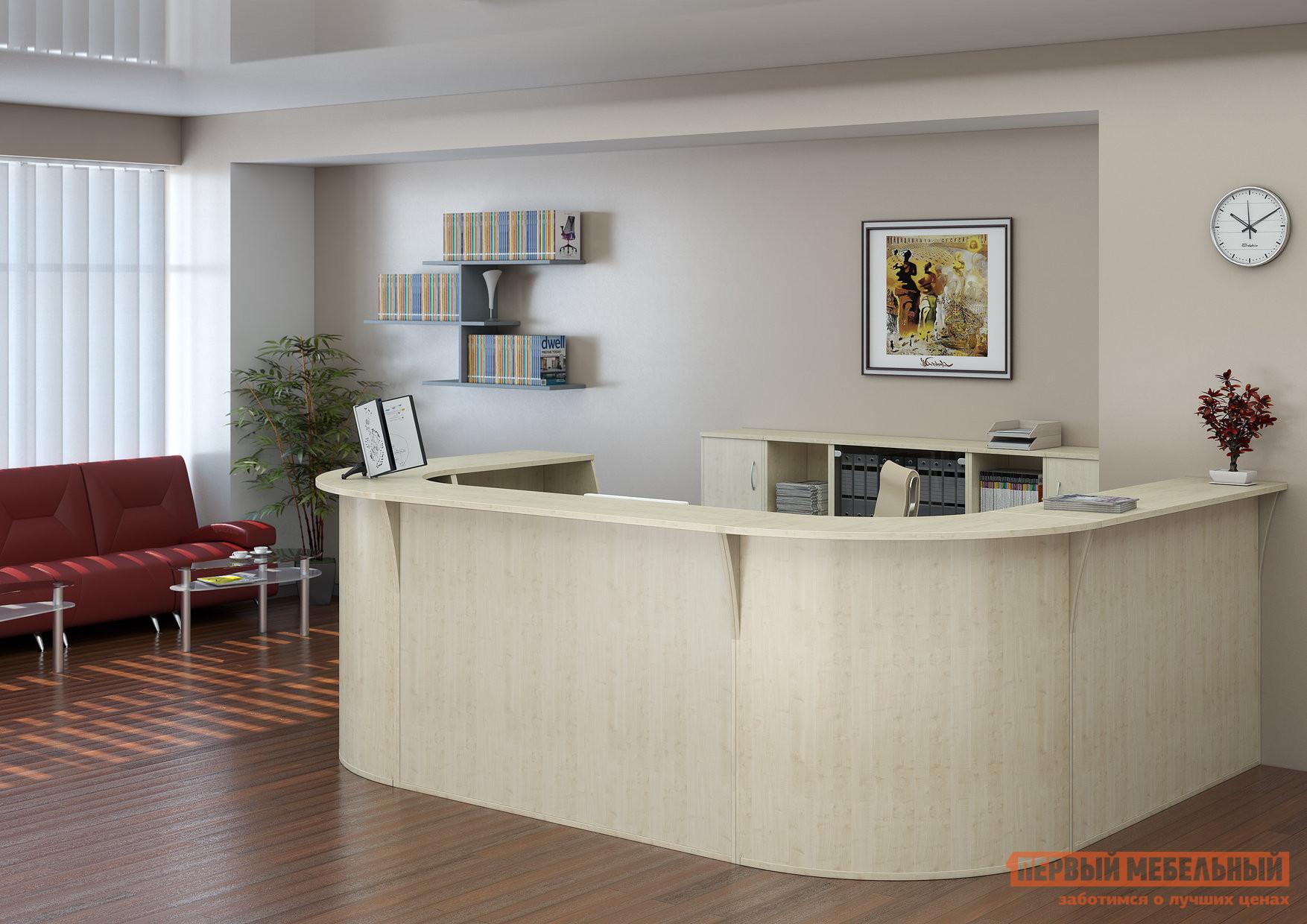 Комплект офисной мебели Riva Рива Ресепшн Клен К2 комплект офисной мебели riva рива ресепшн к1