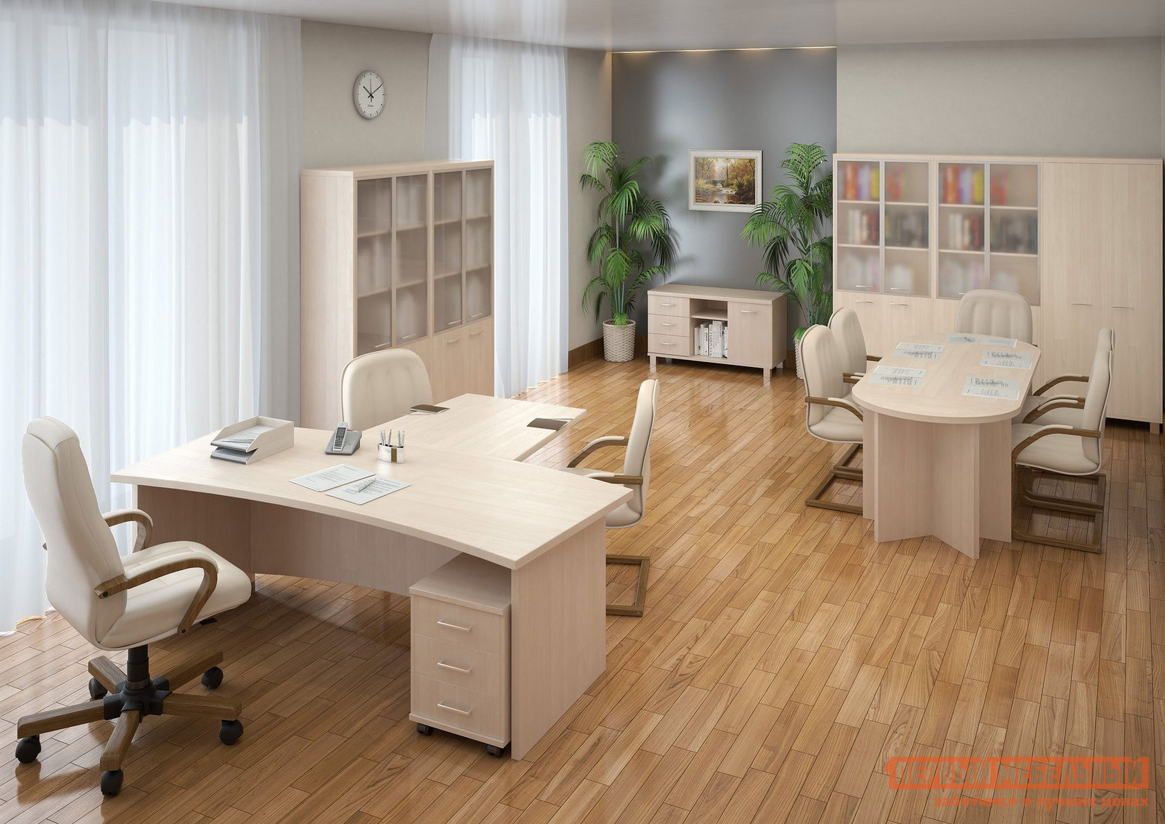 Комплект офисной мебели Riva Фёст Клен К1 комплект детской мебели мебельсон колледж к1