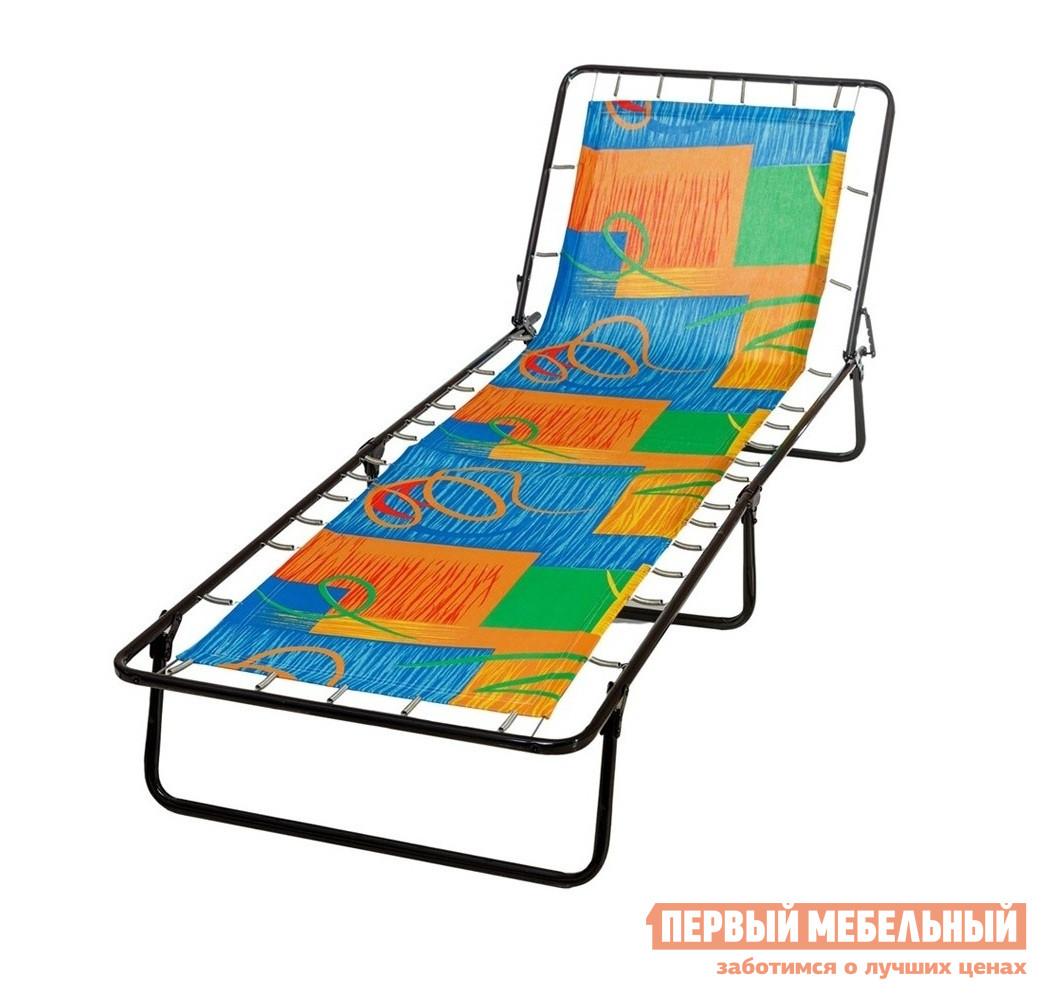 Раскладушка OLSA Стефания с85а В ассортиментеРаскладушки<br>Габаритные размеры ВхШхГ 240x660x1920 мм. Кровать металлическая раскладная с жестким матрасом.  В сложенном виде она займет немного места, а при необходимости ее можно легко разложить и организовать спальное место.  Спинка имеет четыре фиксированных позиции, поэтому на раскладушке можно не только спать, но и отдыхать на природе. Каркас выполнен из прочной стальной трубы, металл обработан защитным полимерным покрытием.  Основание выполнено из полипропиленовой пленочной ткани, которая крепится к каркасу при помощи упругих пружин. Максимально допустимая нагрузка составляет 120 кг. Обратите внимание! Расцветка матраса и каркаса может отличаться от изображения.<br><br>Цвет: В ассортименте<br>Высота мм: 240<br>Ширина мм: 660<br>Глубина мм: 1920<br>Кол-во упаковок: 1<br>Форма поставки: В собранном виде<br>Срок гарантии: 18 месяцев<br>Тип: До 120 кг<br>Тип: Без матраса<br>Материал: Металл<br>Материал: Ткань<br>Материал: Сталь<br>С подголовником: Да<br>На пружинах: Да
