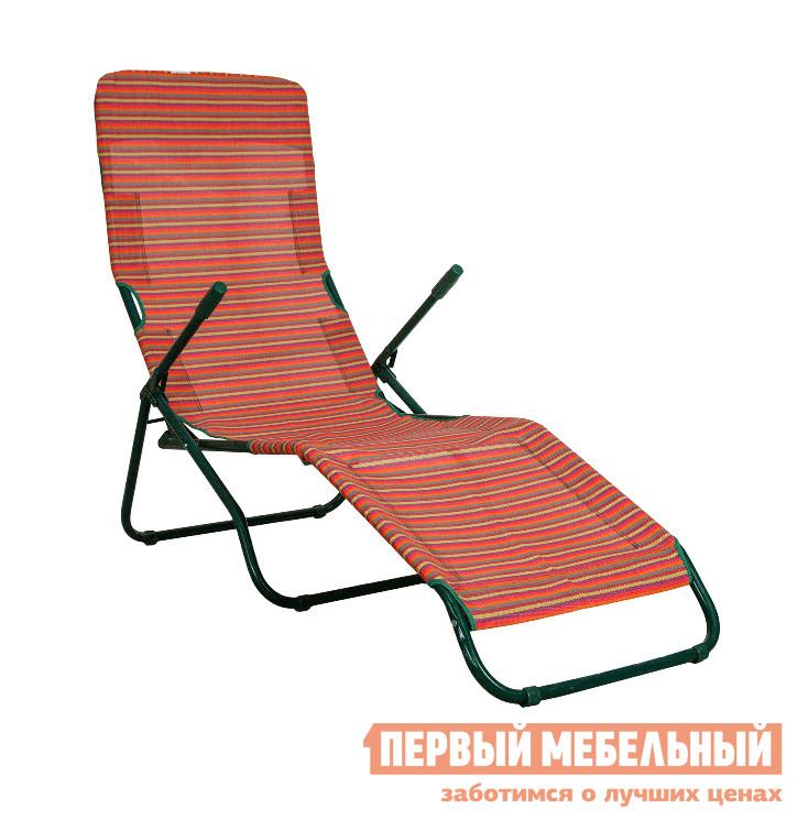 Шезлонг OLSA Лагуна с258а Красные полоскиЛежаки и шезлонги<br>Габаритные размеры ВхШхГ 1050x650x1400 мм. Модное кресло-лежак Лагуна с258а сделает ваши драгоценные мгновения блаженной неги под солнцем еще удобнее и приятнее.  В кресле предусмотрена регулировка наклона сиденья и спинки, а дерзкие подлокотники позволят с комфортом расположиться вашим утомленным рукам. На даче, в поездке на пикник к озеру или даже на лоджии, кресло-лежак всегда будет манить прилечь на него и забыть о текущих делах.  Размеры модели в разложенном виде (ВхШхГ): 1050 х 650 х 1400 мм.  Кресло рассчитано на распределенную нагрузку до 120 кг, при этом нагрузка на каждую часть не должна превышать следующие параметры: спинка — 40 кг, сиденье — 70 кг, подножная часть — 10 кг. Для изготовления каркаса используется стальная труба диаметром 22 х 1,4 мм с полимерным покрытием.  Материал полотна — прочный текстилен.  В сложенном виде изделие имеет размеры 1200 х 595 х 180 мм и весит всего 7,2 кг.  Приобретая кресло-лежак Лагуна с258а вы можете сразу положить его в багажник, много места оно не займет, и при случае устроить себе часок релакса на свежем воздухе.<br><br>Цвет: Красный<br>Высота мм: 1050<br>Ширина мм: 650<br>Глубина мм: 1400<br>Кол-во упаковок: 1<br>Форма поставки: В собранном виде<br>Срок гарантии: 18 месяцев<br>Тип: Складные<br>Тип: Кресла-шезлонги<br>Назначение: Для бассейна<br>Назначение: Для дачи<br>Назначение: Пляжные<br>Материал: Металл<br>Материал: Ткань<br>Размер: Одноместные