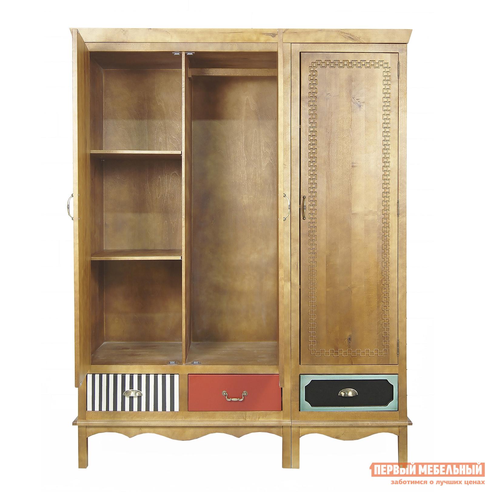 Трёхстворчатый деревянный шкаф для одежды gouache.