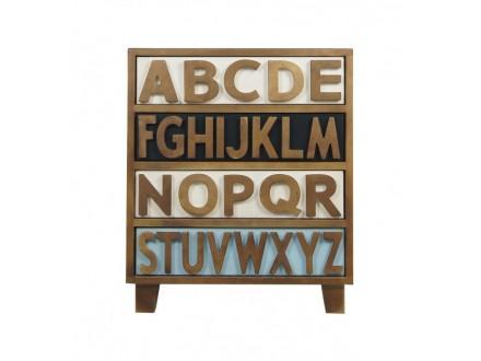 Комод Alphabeto RE-032ETG/4 Алфавит-032