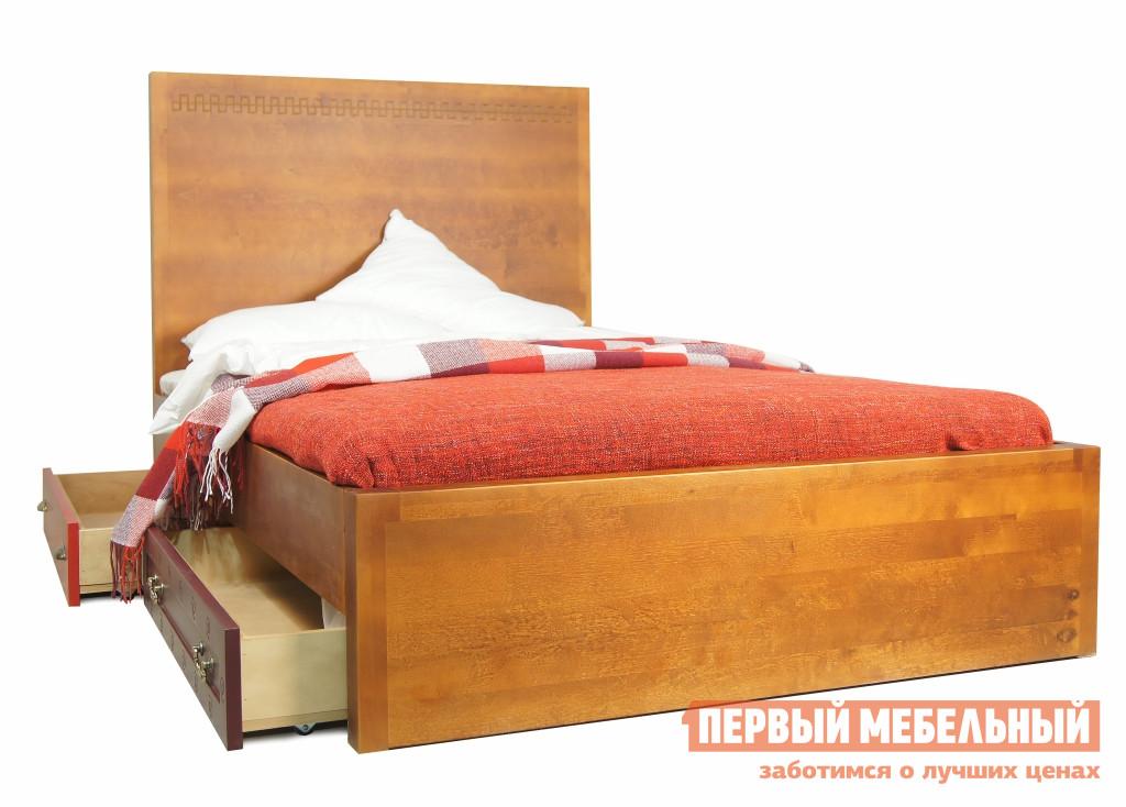 купить Кровать полутороспальная деревянная Этажерка М10512ETG по цене 96330 рублей