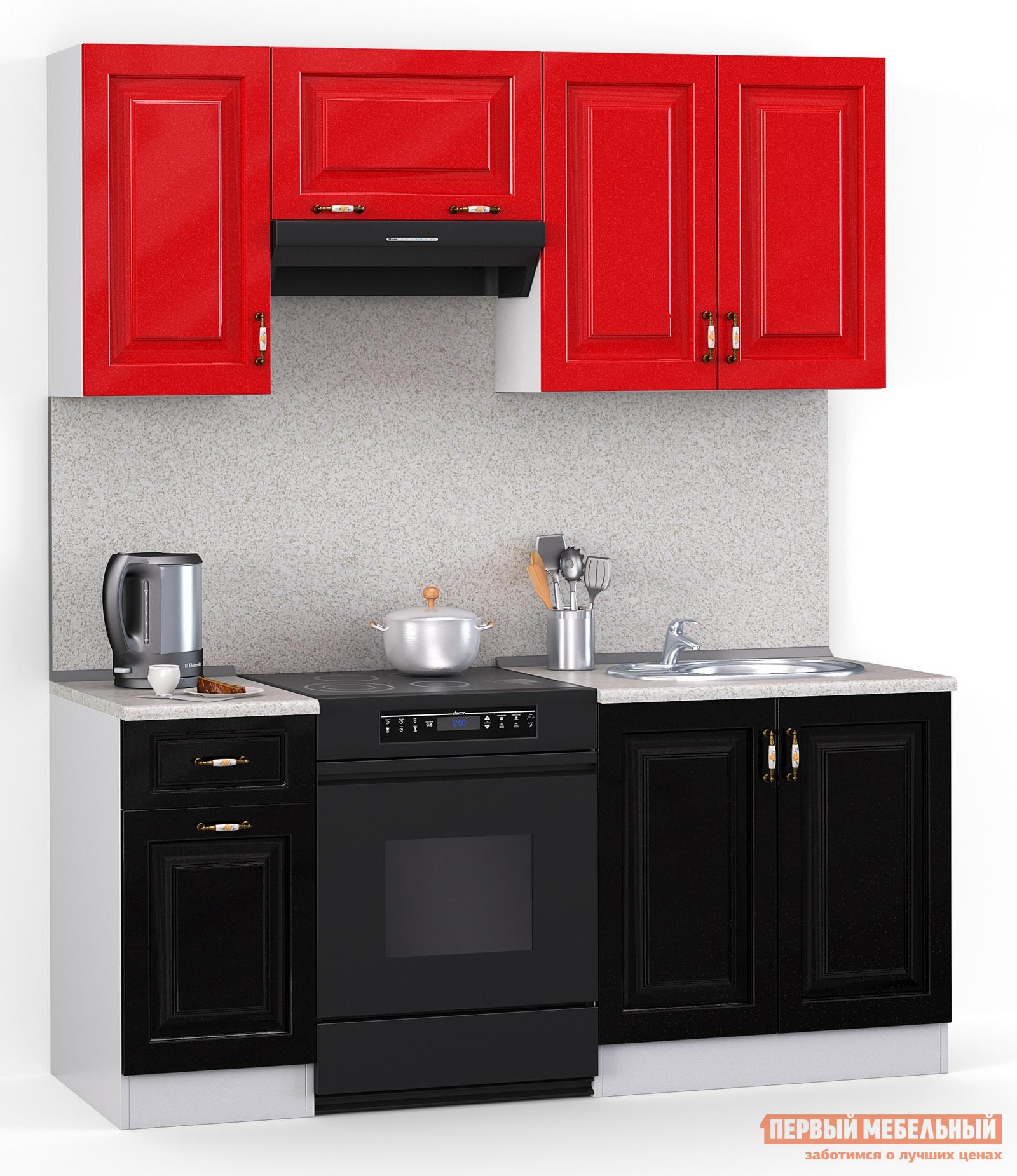 Кухонный гарнитур МегаЭлатон Лиана Декор МДФ 1800 кухонный гарнитур декор 1800 черный красный