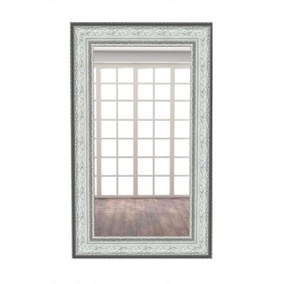 Настенное зеркало МегаЭлатон В раме №12 1200 Х 600 мм, Багет белый