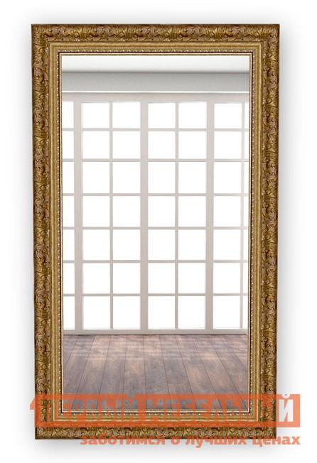 Настенное зеркало МегаЭлатон В раме №6 Багет коричневый, 850 Х 500 мм