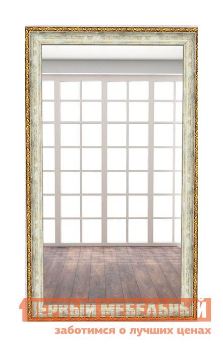 Настенное зеркало МегаЭлатон В раме №1 Багет золото-бирюзовый, 1300 Х 700 мм