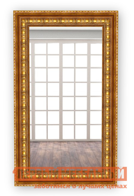 Настенное зеркало МегаЭлатон В раме №7 Багет темное золото, 1300 Х 700 мм