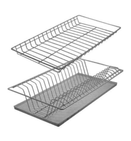 Сушилка для посуды МегаЭлатон Сушилка для посуды 565мм БелыйСушилки для посуды<br>Габаритные размеры ВхШхГ x565x290 мм. Полки для сушки посуды.  Подходят для шкафа-сушки шириной 600 мм. В комплект входят крепежи для навешивания.  Глубина сушки — 290 мм.  Подходит для шкафов глубиной 300 мм.<br><br>Цвет: Белый<br>Цвет: Белый<br>Ширина мм: 565<br>Глубина мм: 290<br>Форма поставки: В собранном виде<br>Срок гарантии: 12 месяцев