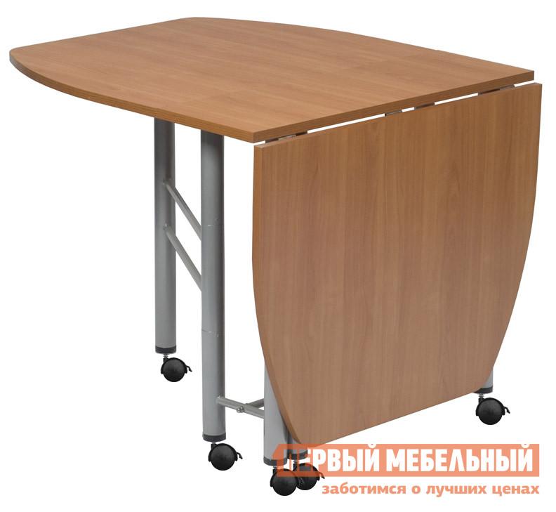 Стол-книжка МегаЭлатон Венеция-02К БукСтолы-книжки<br>Габаритные размеры ВхШхГ 750x340 / 1700x880 мм. Отличается от модели стола-книжки Венеция 2 наличием опорных колесиков с тормозами. Компактные размеры стола в сложенном состоянии позволяют перемещать этот трансформер в любом пространстве.  За таким столом есть возможность собрать друзей и близких вместе.  В разложенном состоянии столешница превращается в большой стол.  Сложенную конструкцию стола-трансформера можно использовать как небольшой стеллаж. Размеры в открытом состоянии: 1700х880х750. Размеры в закрытом состоянии: 340х880х750. Стол поставляется в собранном виде в оригинальной упаковке. Каркас стола изготавливается из металла с порошковым напылением, столешница — ЛДСП 22 мм.<br><br>Цвет: Светлое дерево<br>Высота мм: 750<br>Ширина мм: 340 / 1700<br>Глубина мм: 880<br>Кол-во упаковок: 1<br>Форма поставки: В собранном виде<br>Срок гарантии: 12 месяцев<br>Тип: Раскладные<br>Тип: Трансформер<br>Материал: Дерево<br>Материал: ЛДСП<br>Форма: Овальные<br>Форма: Прямоугольные<br>На колесиках: Да<br>С металлическими ножками: Да