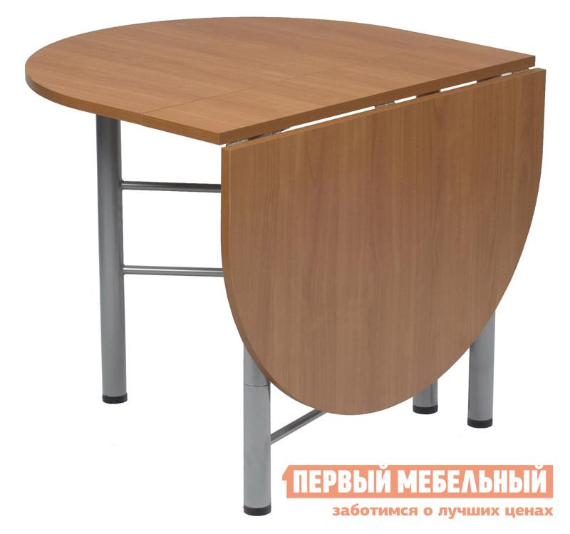 Стол-книжка МегаЭлатон Рим-овал БукСтолы-книжки<br>Габаритные размеры ВхШхГ 750x240 / 1400x880 мм. Компактные размеры стола в сложенном состоянии позволяют перемещать этот трансформер в любом пространстве.  За таким столом есть возможность собрать друзей и близких вместе.  В разложенном состоянии столешница превращается в большой стол.  Сложенную конструкцию стола-трансформера можно использовать как небольшой стеллаж. Размеры в открытом состоянии: 1400х880х750. Размеры в закрытом состоянии: 240х880х750. Стол поставляется в собранном виде в оригинальной упаковке. Столешница изготавливается из ЛДСП, каркас — металл с порошковым напылением.<br><br>Цвет: Бук<br>Цвет: Светлое дерево<br>Высота мм: 750<br>Ширина мм: 240 / 1400<br>Глубина мм: 880<br>Кол-во упаковок: None<br>Форма поставки: В собранном виде<br>Срок гарантии: 12 месяцев<br>Тип: Раскладные, Трансформер<br>Материал: Деревянные, из ЛДСП<br>Форма: Овальные, Полукруглые<br>Размер: Узкие<br>Особенности: С металлическими ножками, Недорогие
