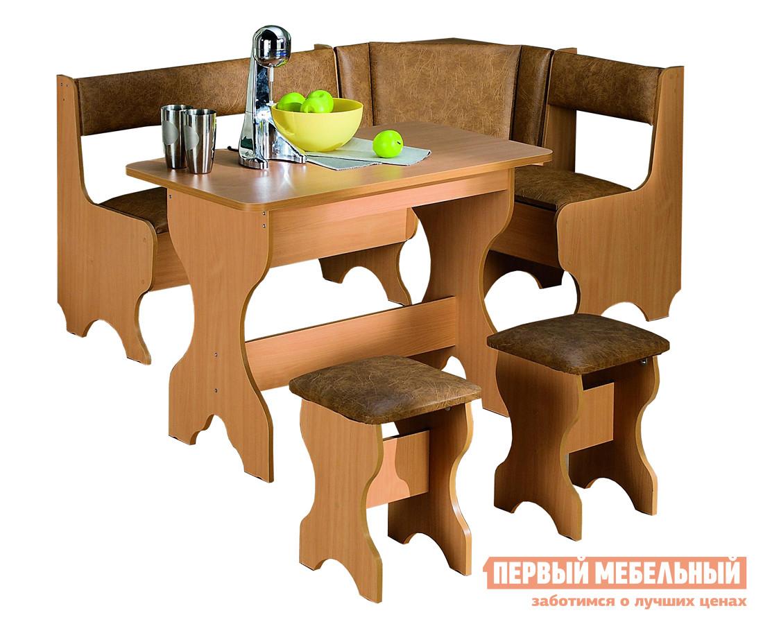 Кухонный уголок МегаЭлатон Троя 1 + Спарта + Пул, 2шт. Бук / Светло-коричневый