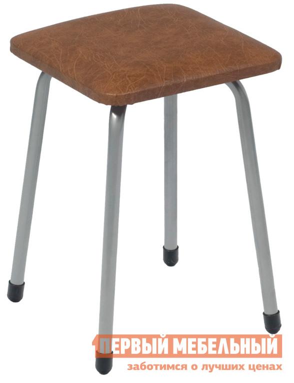 Табурет МегаЭлатон Палермо-М Темно-коричневый кожзам