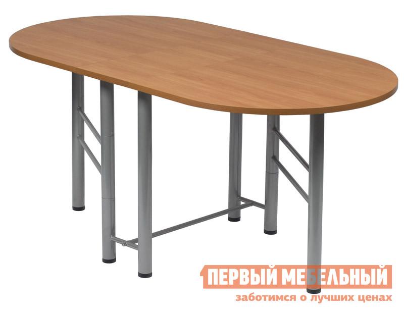 Кухонный стол МегаЭлатон Венеция-001 БукКухонные столы<br>Габаритные размеры ВхШхГ 750x340 / 1700x880 мм. Компактные размеры стола в сложенном состоянии позволяют перемещать этот трансформер в любом пространстве.  За таким столом есть возможность собрать друзей и близких вместе.  В разложенном состоянии столешница превращается в большой стол.  Сложенную конструкцию стола-трансформера можно использовать как небольшой стеллаж. Размеры в открытом состоянии: 1700х880х750. Размеры в закрытом состоянии: 340х880х750. Стол поставляется в собранном виде в оригинальной упаковке. Каркас стола выполняется из металла с порошковым напылением, столешница — ЛДСП толщина 22 мм.  Максимальная нагрузка составляет 120 кг.<br><br>Цвет: Светлое дерево<br>Высота мм: 750<br>Ширина мм: 340 / 1700<br>Глубина мм: 880<br>Кол-во упаковок: 1<br>Форма поставки: В собранном виде<br>Срок гарантии: 12 месяцев<br>Тип: Раскладные<br>Тип: Трансформер<br>Материал: Дерево<br>Материал: ЛДСП<br>Форма: Овальные<br>Форма: Полукруглые<br>С металлическими ножками: Да