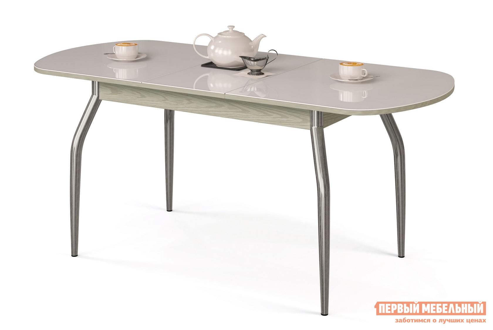 Фото Кухонный стол МегаЭлатон Сиена-Стекло Белый, Венге италия. Купить с доставкой