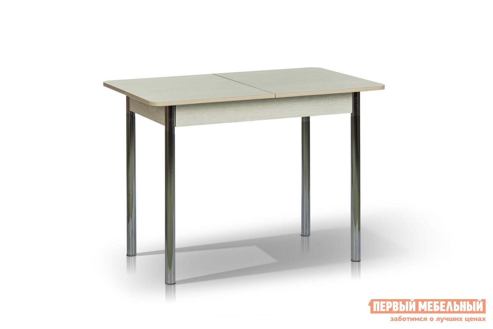 Кухонный стол МегаЭлатон Капри Мини Венге италияКухонные столы<br>Габаритные размеры ВхШхГ 750x1000 / 1320x650 мм. Обеденный стол с раздвижной столешницей прекрасно подойдет для небольшой кухни.  Простые и строгие формы добавляют столу изящности и позволяют ему вписаться в любой интерьер.  Модель оснащена шариковым механизмом, благодаря которому столешница легко и быстро трансформируется. Размер стола:В собранном виде (ВхШхГ): 750 х 1000 х 650 мм;В разложенном виде (ВхШхГ): 750 х 1320 х 650 мм;Металлические ножки выполнены из хромированной трубы.  Каркас столешницы изготовлен из ЛДСП толщиной 16 мм и МДФ толщиной 18 мм.  Торцевые части облицованы противоударной пленкой ПВХ толщиной 2 мм.<br><br>Цвет: Венге италия<br>Цвет: Светлое дерево<br>Высота мм: 750<br>Ширина мм: 1000 / 1320<br>Глубина мм: 650<br>Кол-во упаковок: 1<br>Форма поставки: В разобранном виде<br>Срок гарантии: 12 месяцев<br>Тип: Раздвижные, Трансформер<br>Материал: Деревянные, из ЛДСП, из МДФ<br>Форма: Прямоугольные<br>Размер: Маленькие<br>Особенности: С металлическими ножками