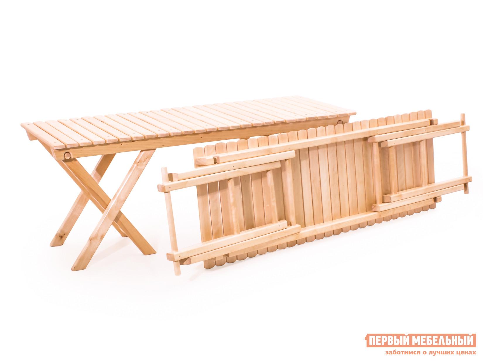 Деревянная скамейка без спинки Смолянка Лавка 2-х местная скл. СМ026Б скамейка c подушкой step 2 5218kr