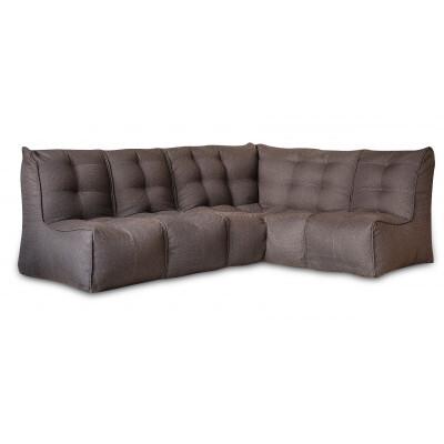 Кресло-мешок DreamBag Shape Угловой (угол+2 секции) Коричневый