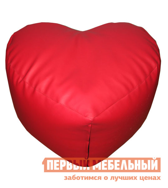 Кресло-мешок DreamBag Сердце Красная экокожа