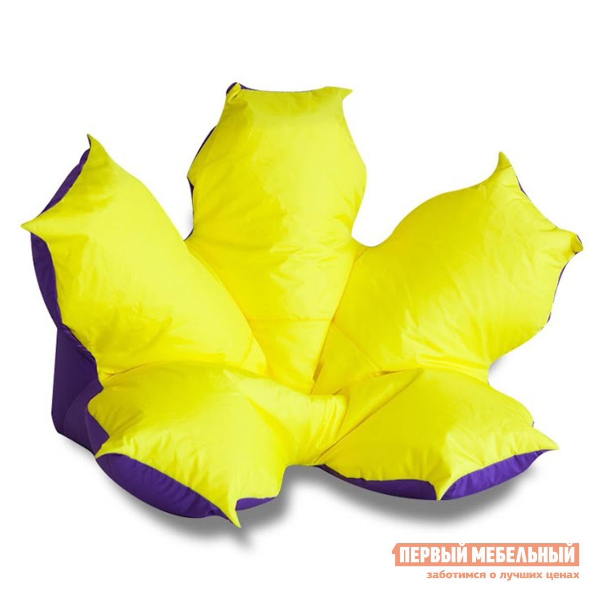 Кресло-цветок DreamBag Цветок желто фиолетовый кресло мешок dreambag цветок желто фиолетовый оксфорд