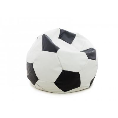 Кресло-мешок DreamBag Мяч Бело-черная экокожа