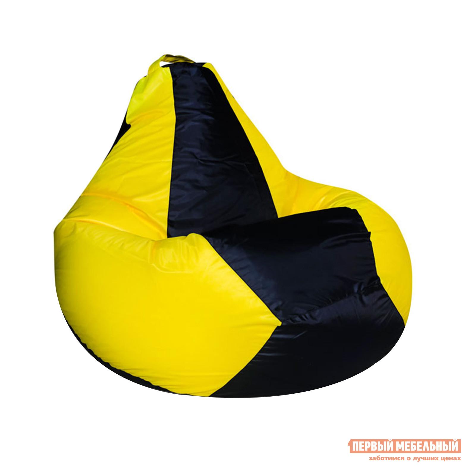 Кресло-мешок DreamBag Фитнес Желтый / Черный Оксфорд от Купистол