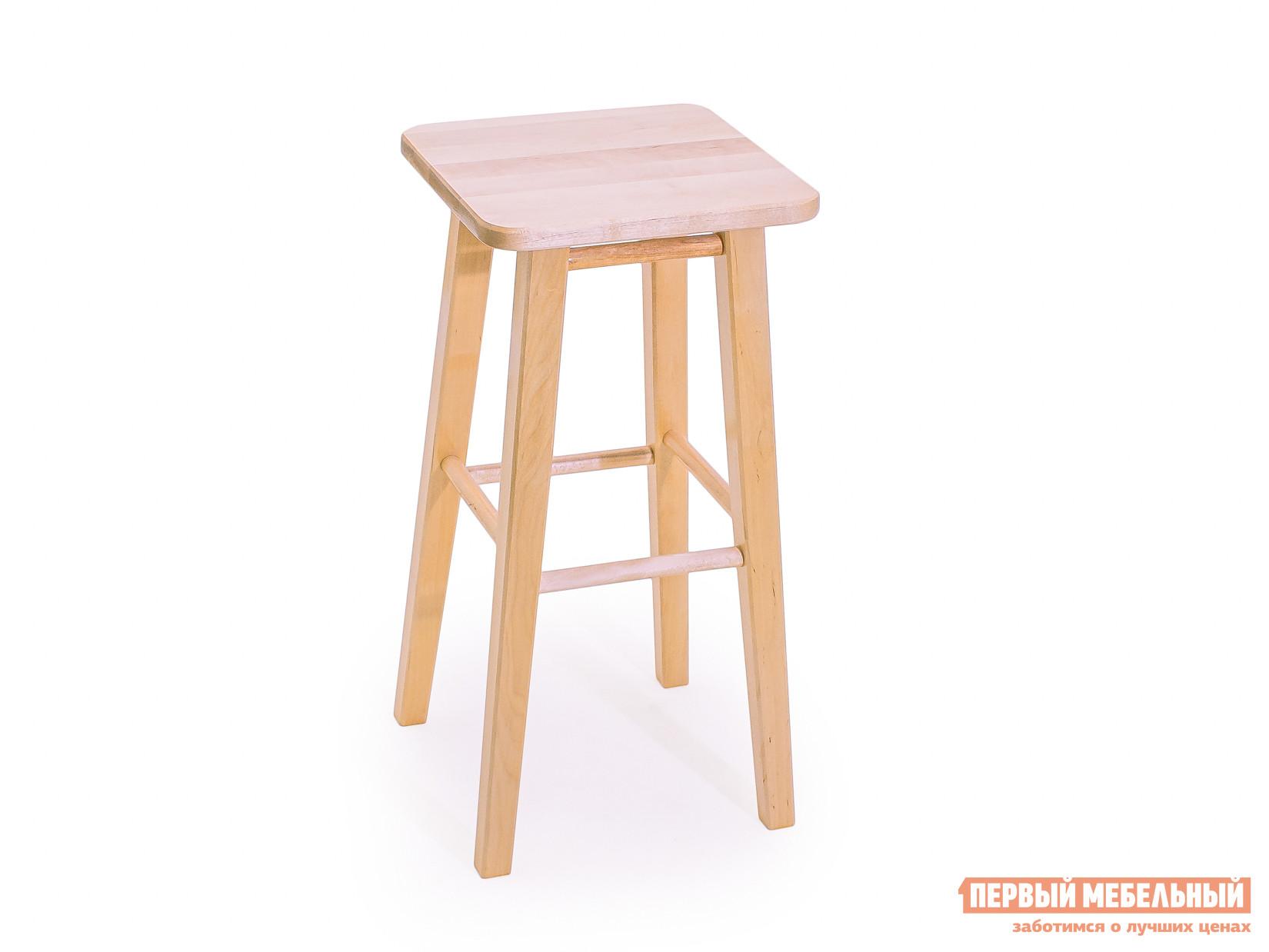 Барный стул СМКА КМ022Б Береза, 650 ммБарные стулья<br>Габаритные размеры ВхШхГ 650 / 750x340x340 мм. Деревянный квадратный барный табурет Емельян КМ022Б изготовлен из массива березы.  Он выглядит просто и в то же время колоритно.  Такая модель хорошо подчеркнет прелесть интерьера в стиле прованс или экостиле. Поверхность табурета покрыта прозрачным влагостойким лаком. В нашем интернет-магазине представлены на выбор два варианта высоты табуретов:650 мм. 750 мм. Не забудьте выбрать подходящий. Модель поставляется в уже собранном виде и весит не многим более 3 кг. Сиденье имеет размер 340х340 мм.<br><br>Цвет: Светлое дерево<br>Высота мм: 650 / 750<br>Ширина мм: 340<br>Глубина мм: 340<br>Кол-во упаковок: 1<br>Форма поставки: В собранном виде<br>Срок гарантии: 1 год<br>Тип: Нерегулируемые<br>Тип: Высота сиденья 600-700мм<br>Тип: Высота сиденья 701-800мм<br>Материал: Дерево<br>Материал: Натуральное дерево<br>Порода дерева: Береза<br>Форма: Квадратные<br>С жестким сиденьем: Да<br>Без подлокотников: Да<br>С четырьмя ножками: Да<br>Без спинки: Да