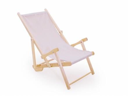 Деревянный лежак для пляжа
