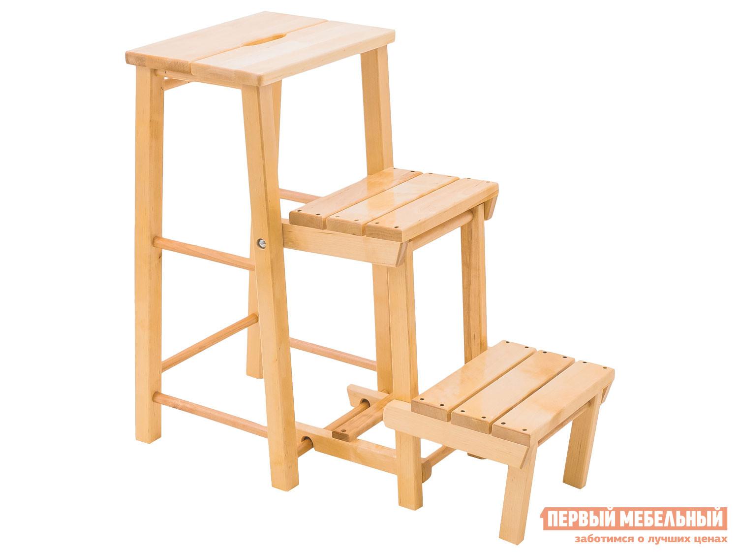 Стремянка Первый Мебельный Табурет – стремянка (три ступени) высота - 750 КМ025Б