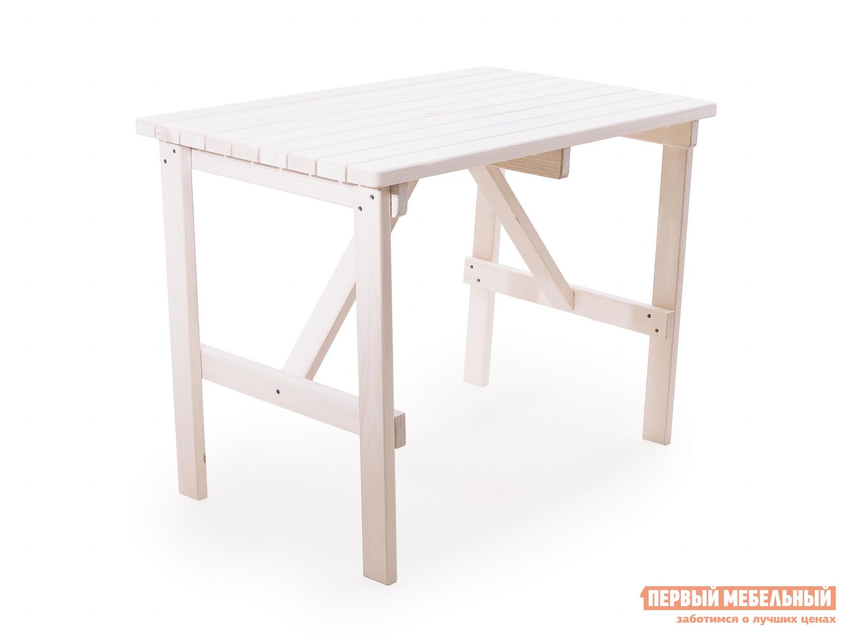Садовый стол СМКА Стол (осина) Веранда ОсинаСадовые столы<br>Габаритные размеры ВхШхГ 750x1000x600 мм. Крепкий деревянный стол Веранда из тщательно обработанной шлифованной осины.  Его поверхность чиста и ничем не покрыта, она хранит тепло и аромат натурального дерева. При желании вы можете нанести на стол лаковое покрытие, чтобы можно было свободно использовать его на улице, или окрасить в любой цвет для создания яркого интерьера. Столешница имеет небольшой размер 1000х600 мм.  За ней удобно расположиться смогут до четырех человек.<br><br>Цвет: Светлое дерево<br>Высота мм: 750<br>Ширина мм: 1000<br>Глубина мм: 600<br>Кол-во упаковок: 1<br>Форма поставки: В разобранном виде<br>Срок гарантии: 1 год<br>Тип: Обеденные<br>Материал: Массив дерева<br>Порода дерева: Осина<br>Форма: Прямоугольные<br>Размер: Маленькие