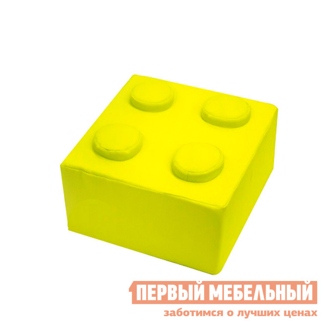 Детский пуфик  Конструктор Квадрат Желтый