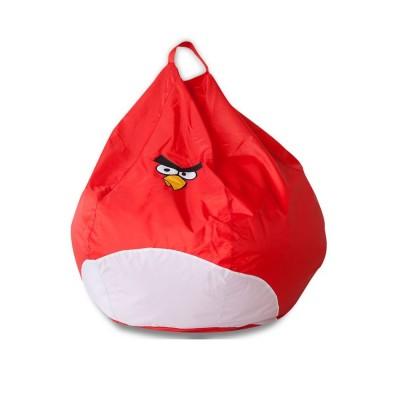 Кресло-мешок DreamBag Злая Птичка Бело-красный