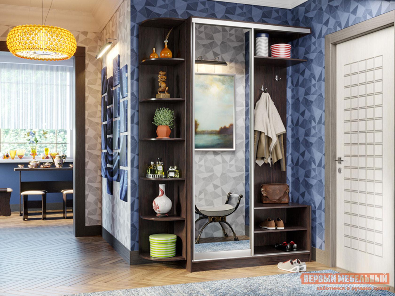 Прихожая Первый Мебельный Прихожая-купе Классика 01, дверь 01 + Угловой стеллаж Классика 65