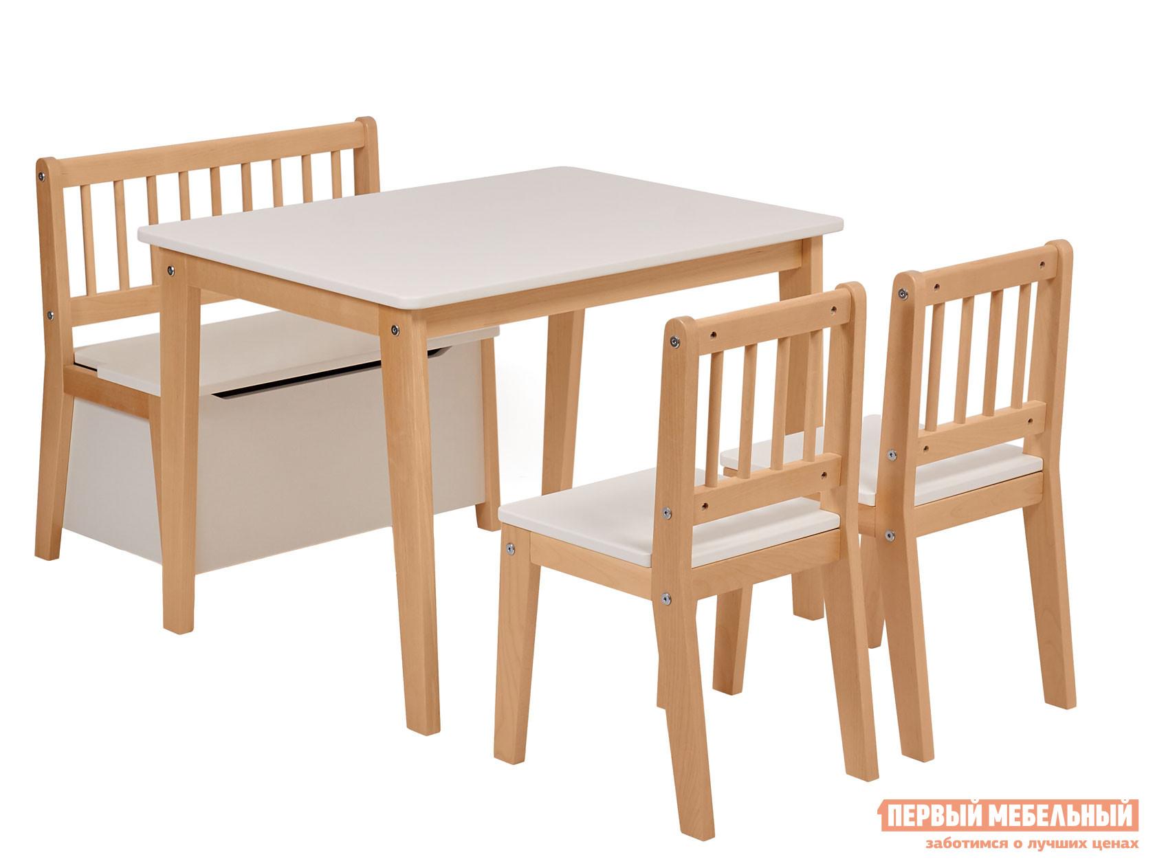 Комплект детской мебели ВПК Комплект детской мебели Polini kids Dream 195 M, со скамьей и стульями