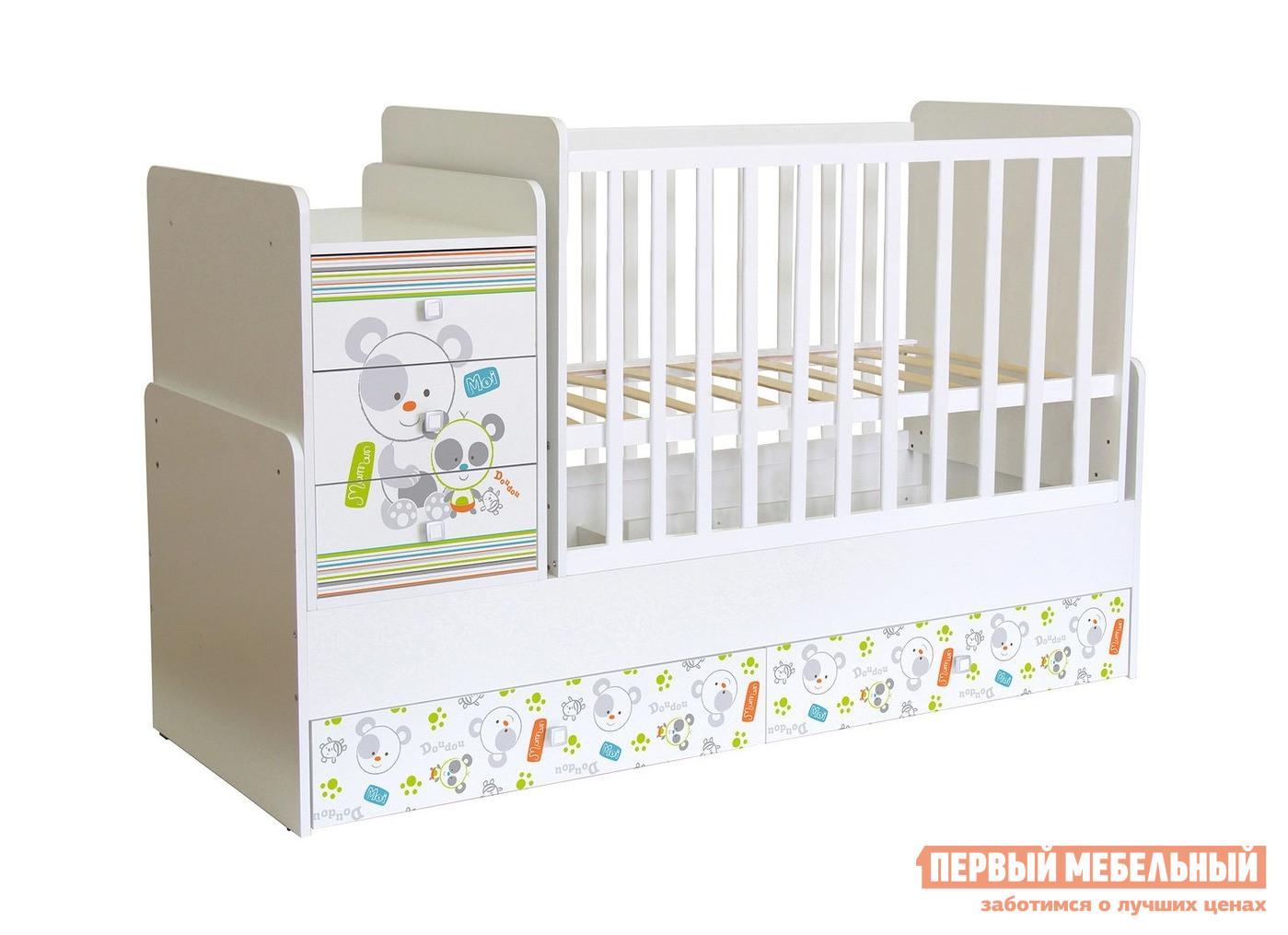Кроватка-трансформер ВПК Кроватка детская Polini kids Simple 1100 цены онлайн