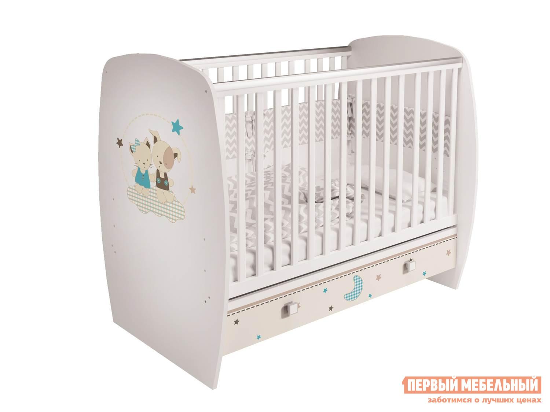Кроватка ВПК Кроватка детская Polini kids Simple 710 с ящиком цены онлайн