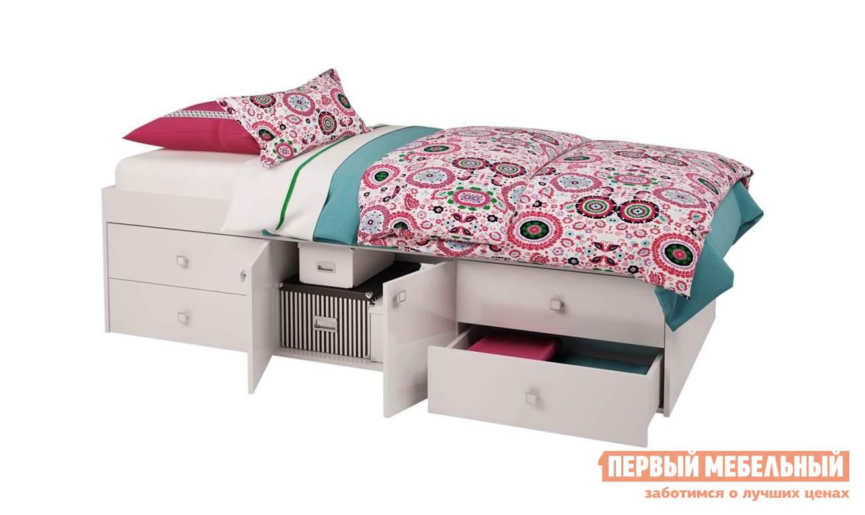 Детская кровать ВПК Кровать детская Polini kids Simple 3100 с 4 ящиками двухъярусная кровать для детей впк кровать 2 х ярусная polini kids simple 5000