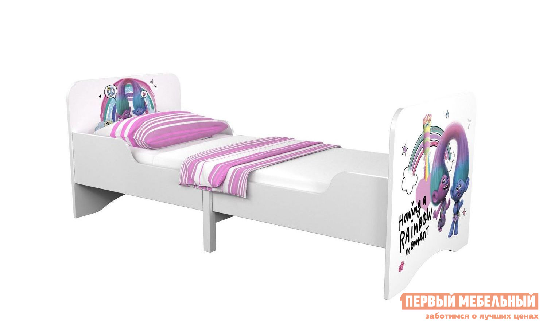 Детская кровать ВПК Кровать детская раздвижная Polini kids Fun 3200 Тролли (0001943.74) двухъярусная кровать для детей впк кровать 2 х ярусная polini kids simple 5000
