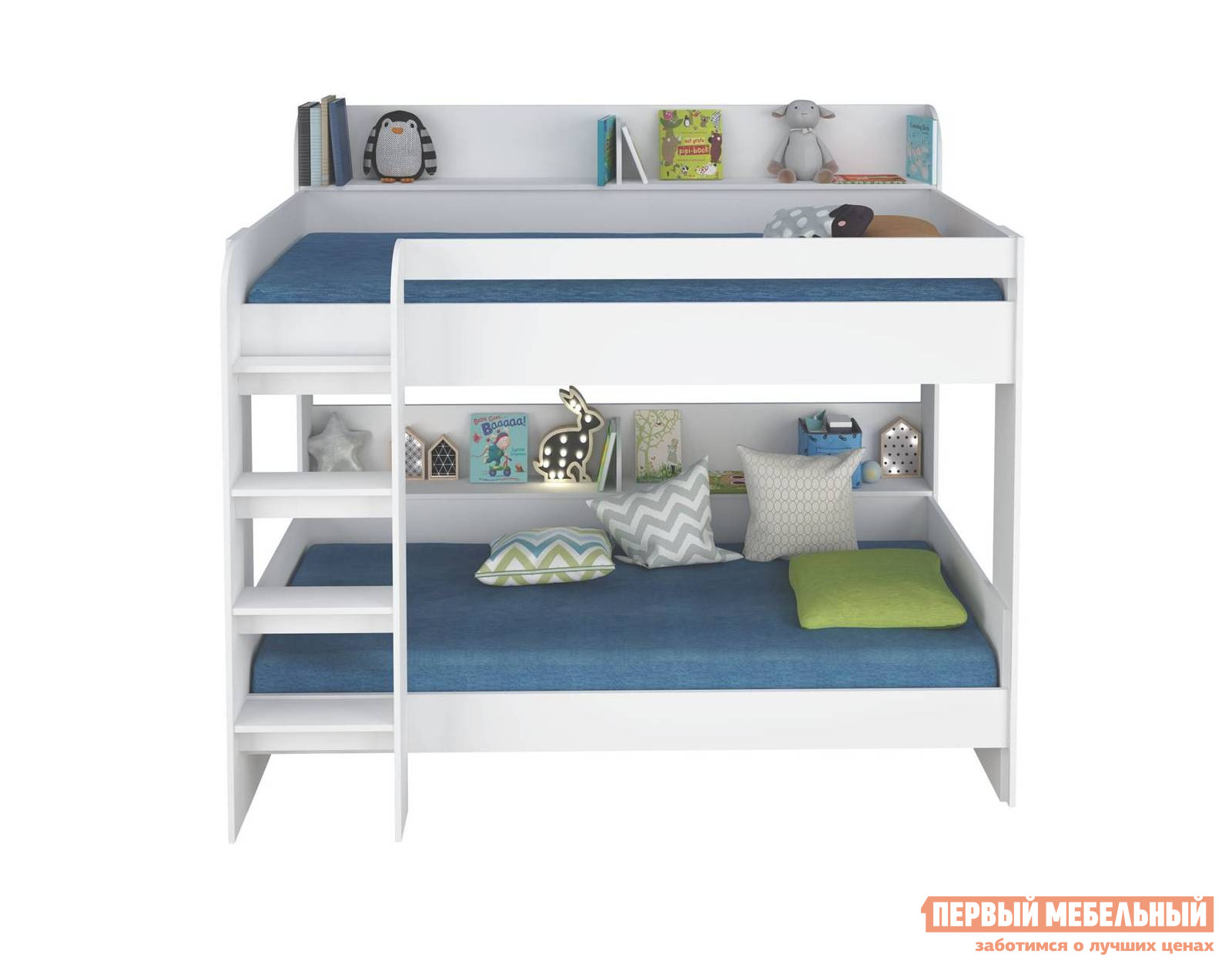 Двухъярусная кровать для детей ВПК Кровать 2-х ярусная Polini kids Simple 5000 двухъярусная кровать для детей впк кровать 2 х ярусная polini kids simple 5000