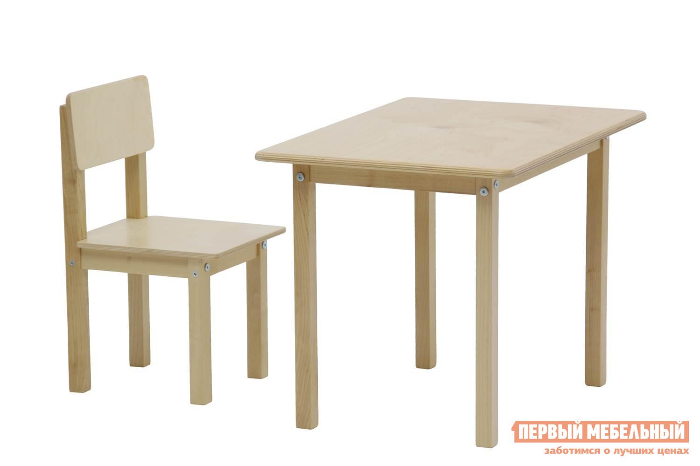 Столик и стульчик  Комплект детской мебели Polini kids Simple 105 S Натуральный